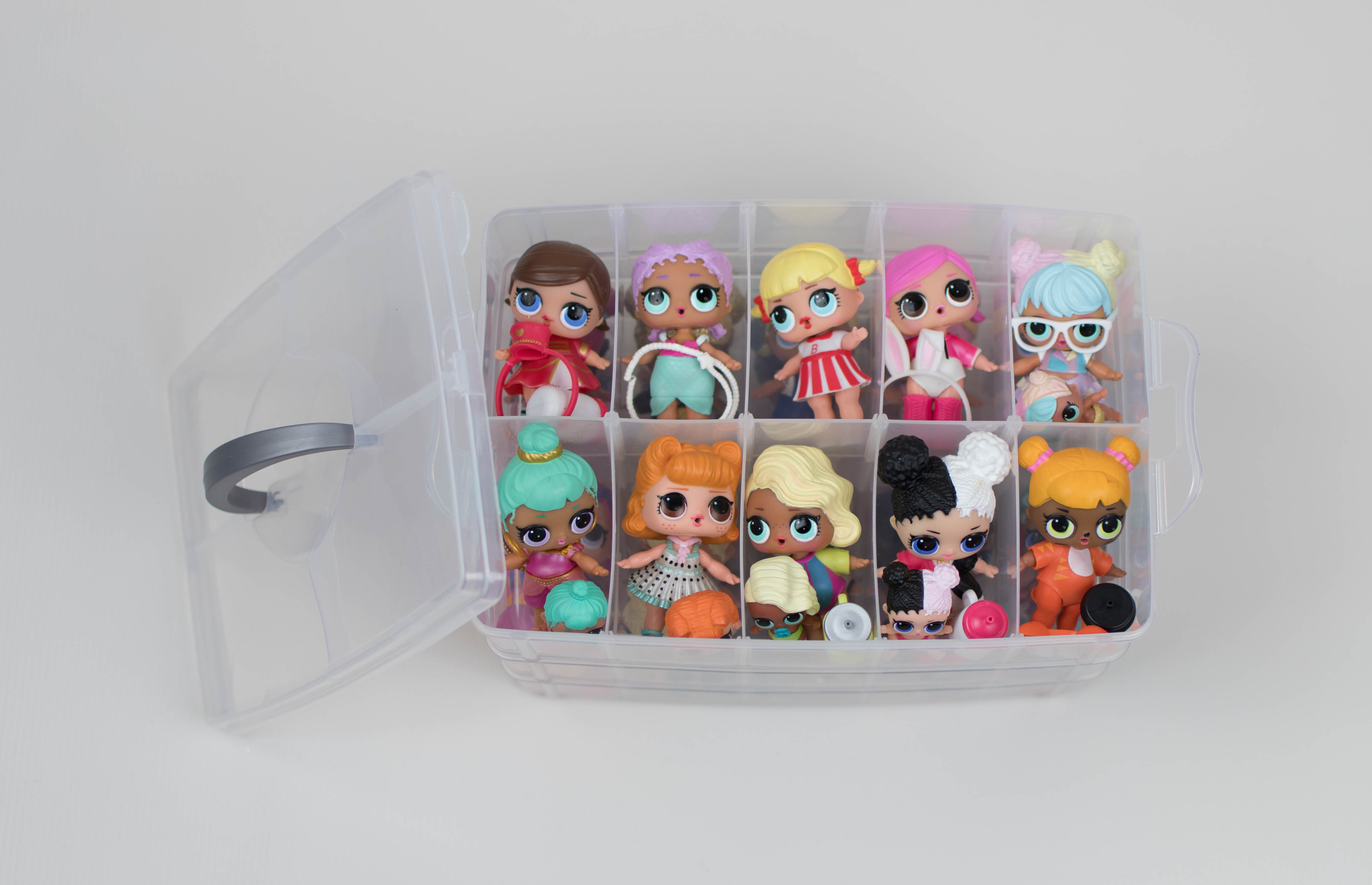 Tomy Tepy Toy Storage Organizer Case Stackable 30 Compartments U2013 Compatible  With LOL Surprise Dolls (Dolls Not Included)
